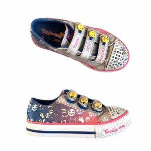 Skechers emoji twinkle toes sneakers